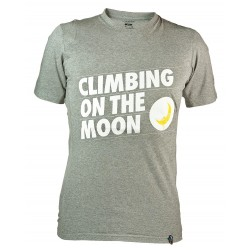 Men t-shirt Climbing on the Moon