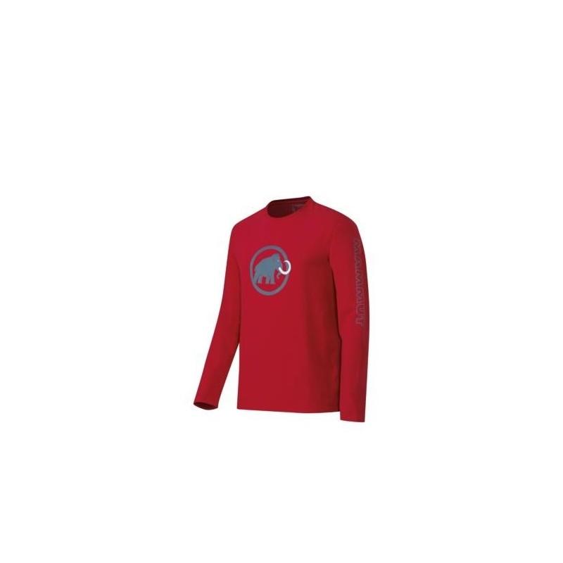 Pánské triko s dlouhým rukávem Mammut Snow Longsleeve Lava