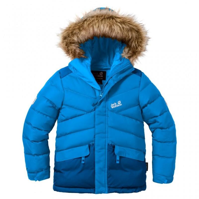 Dětská zimní bunda Jack Wolfskin Icefjord Brilliant Blue