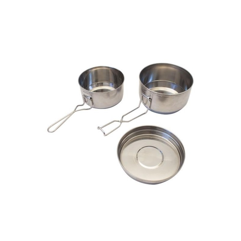 Three pieces stainless steel Yate Mess tin