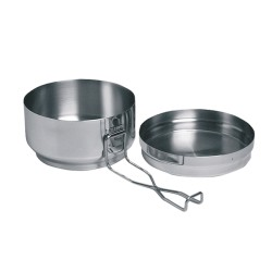 Stainless steel set mess tin 2 pieces