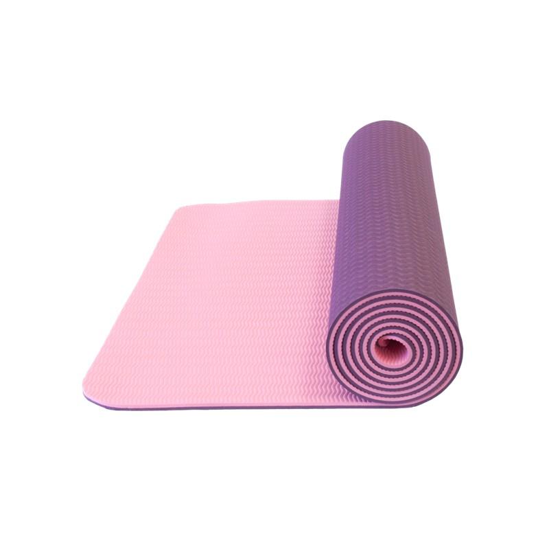 Yoga mat Yate TPE Fialová