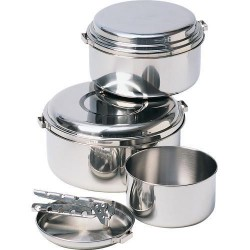 Stainless steel cook set Alpine 4 Pot
