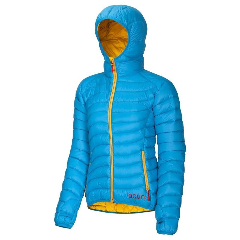 Dámská péřová bunda Ocun Tsunami W Modrá