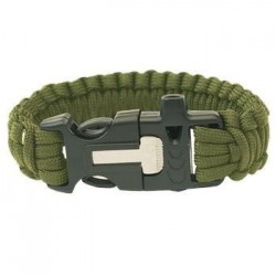 Bracelet Paracord with whistle and firestarter