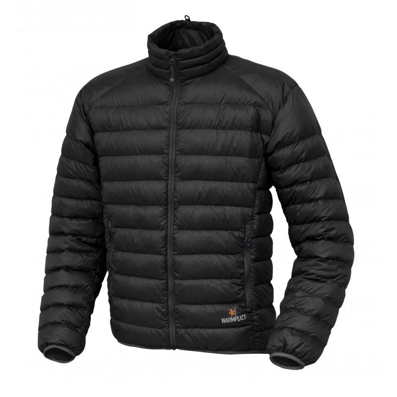 Pánská péřová bunda Warmpeace Drake Černá