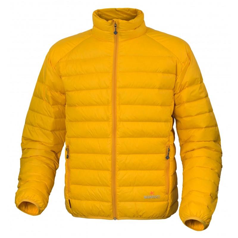 Pánská péřová bunda Warmpeace Drake Mango