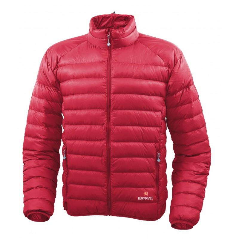 Pánská péřová bunda Warmpeace Drake Červená