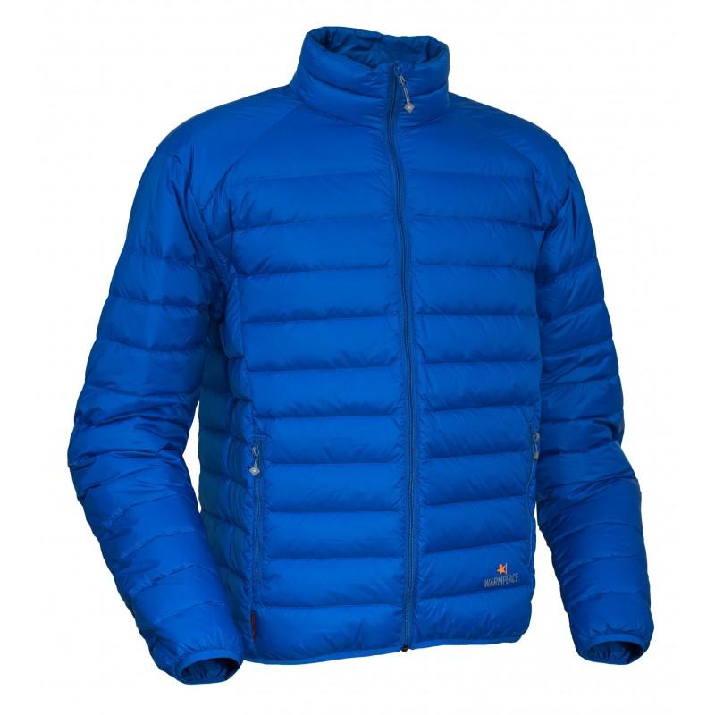Pánská péřová bunda Warmpeace Drake Royal blue
