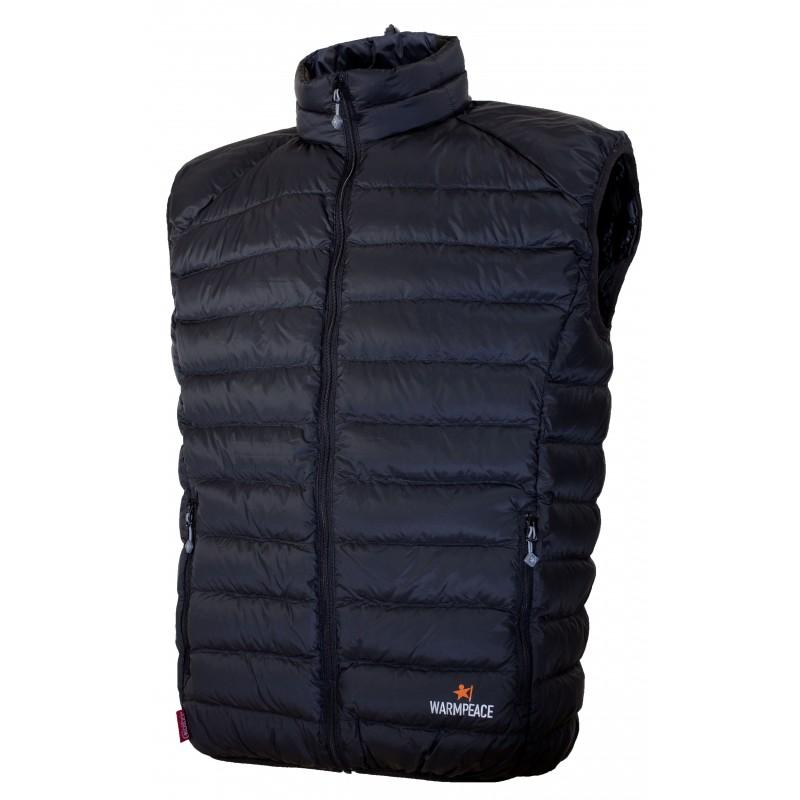 Péřová pánská vesta Warmpeace Drake Černá
