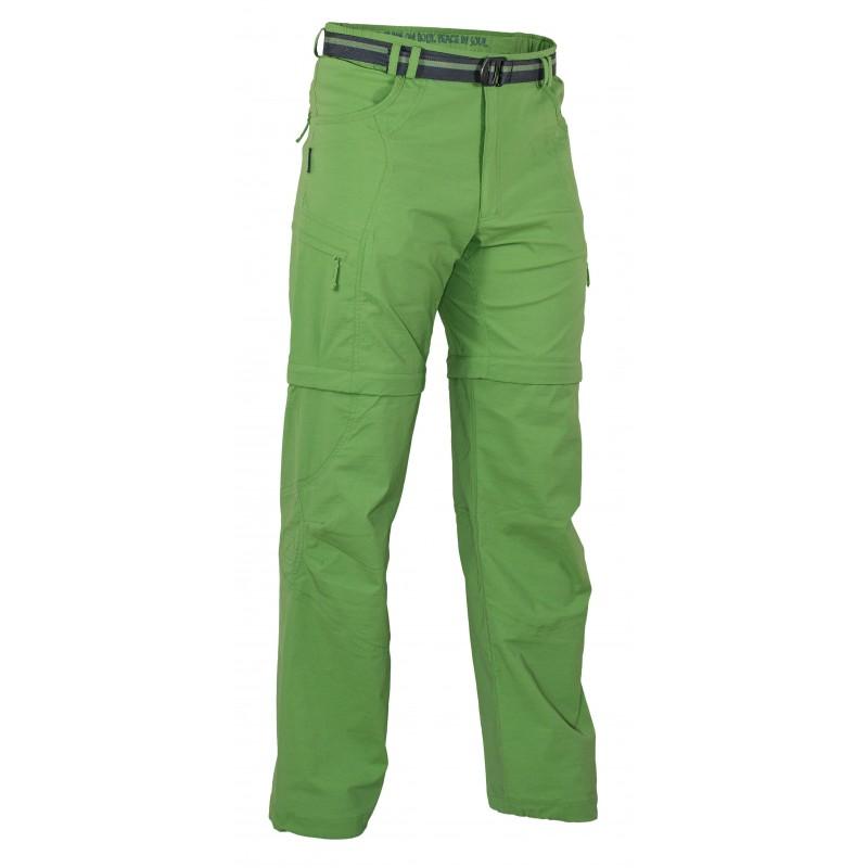 Pánské kalhoty Warmpeace Fording zip-off Grass