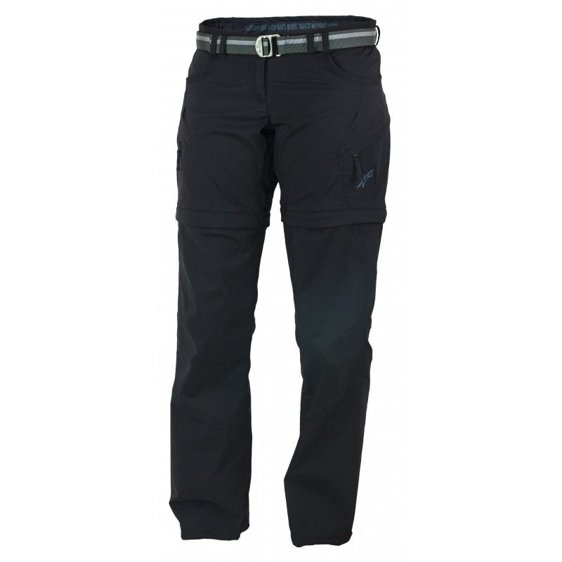 Dámské kalhoty Warmpeace Rivera zip-off lady Černá
