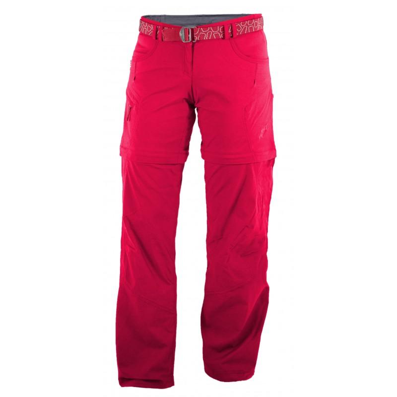 Dámské kalhoty Warmpeace Rivera zip-off lady Rose Red
