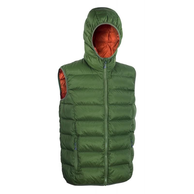 Péřová pánská vesta Warmpeace Alamo Zelená
