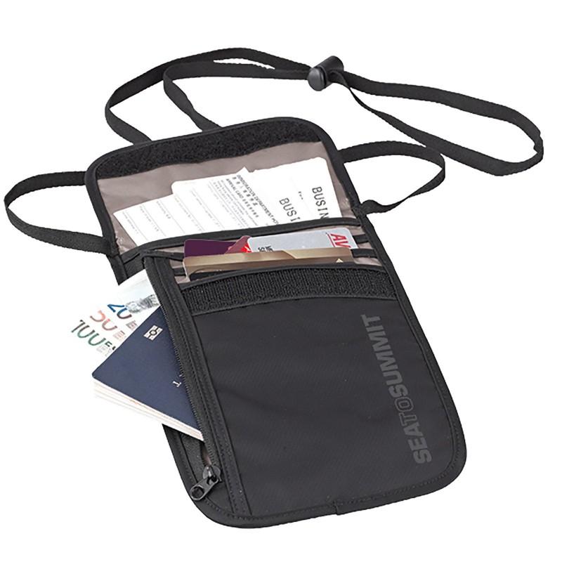 Peněženka na krk SeaToSummit Neck wallet Černá