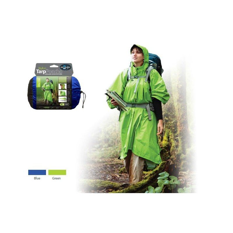 Poncho SeaToSummit 70D Tarp Zelená