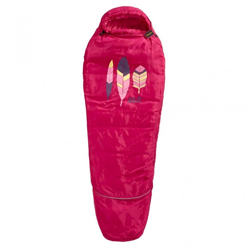 Spací pytel Jack Wolfskin Grow Up Kids azalea red