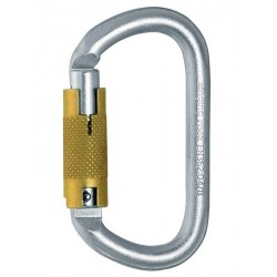 Oval steel carabiner triple...