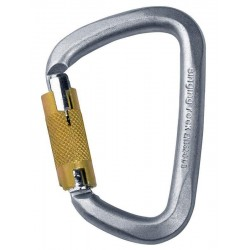 D steel carabiner triple lock