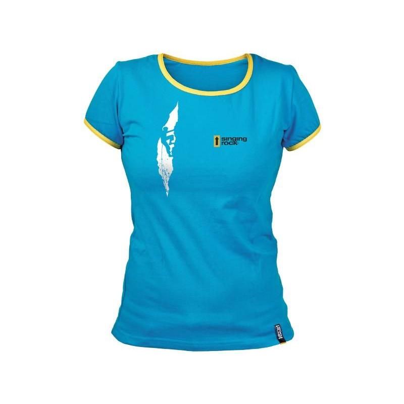Dámské tričko Singing Rock Blue Crack Modrá 3675a23cea