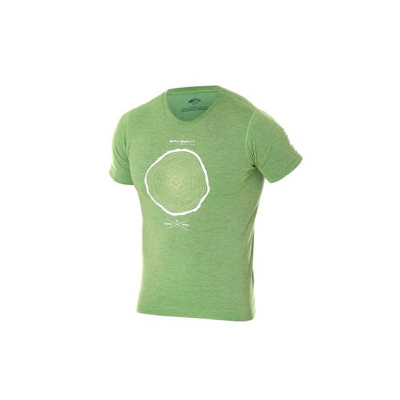 Pánské tričko Brubeck Outdoor wool Zelená