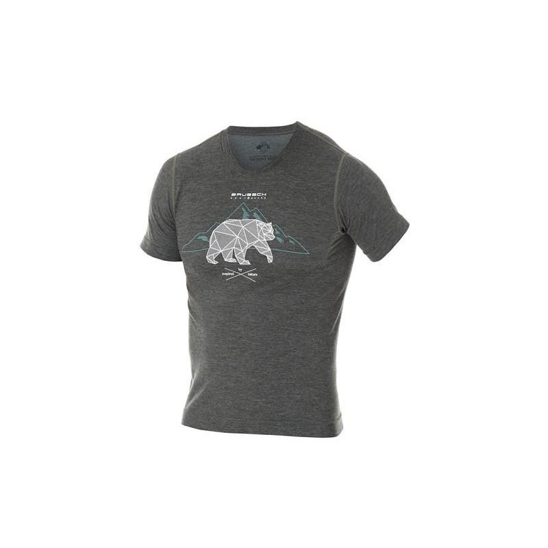 Pánské tričko Brubeck Outdoor wool Graphite