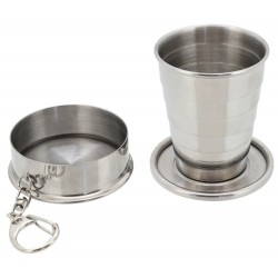 Folding stainless cup