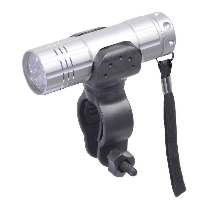 Cyklosvětlo Cattara 9 LED Silver Bílá