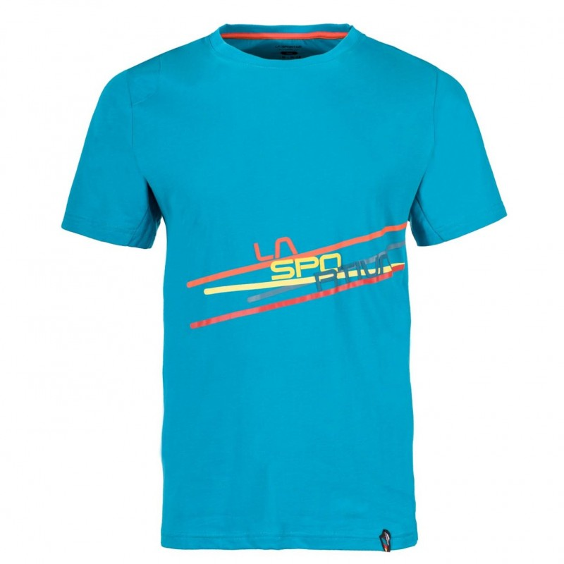 Pánské tričko La Sportiva Stripe 2.0 Tropic Blue