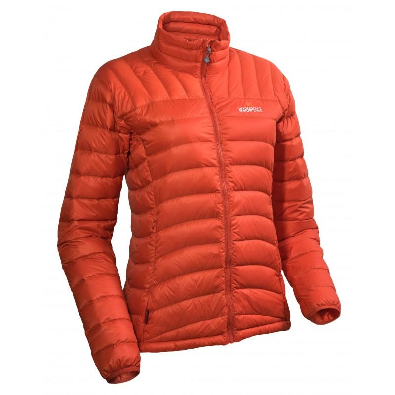 Ultralehká dámská péřová bunda Warmpeace Dragon Mandarine