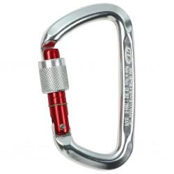 Carabiner D-shape screw lock