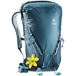 Women climbing backpack...