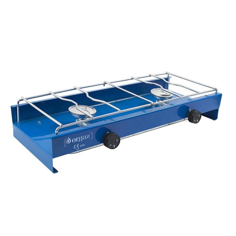 Dvouplotýnkový vařič Yate Camping Modrá