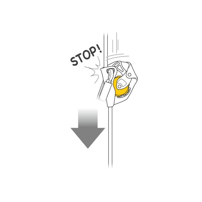 Pohyblivý zachycovač pádu Petzl Asap Žlutá